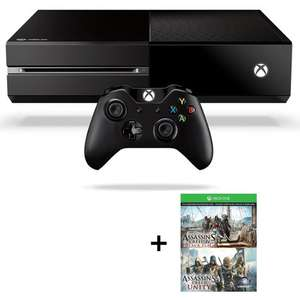 Console Microsoft Xbox One 500 go + Assassin's Creed Black Flag & Unity (Dématérialisés)