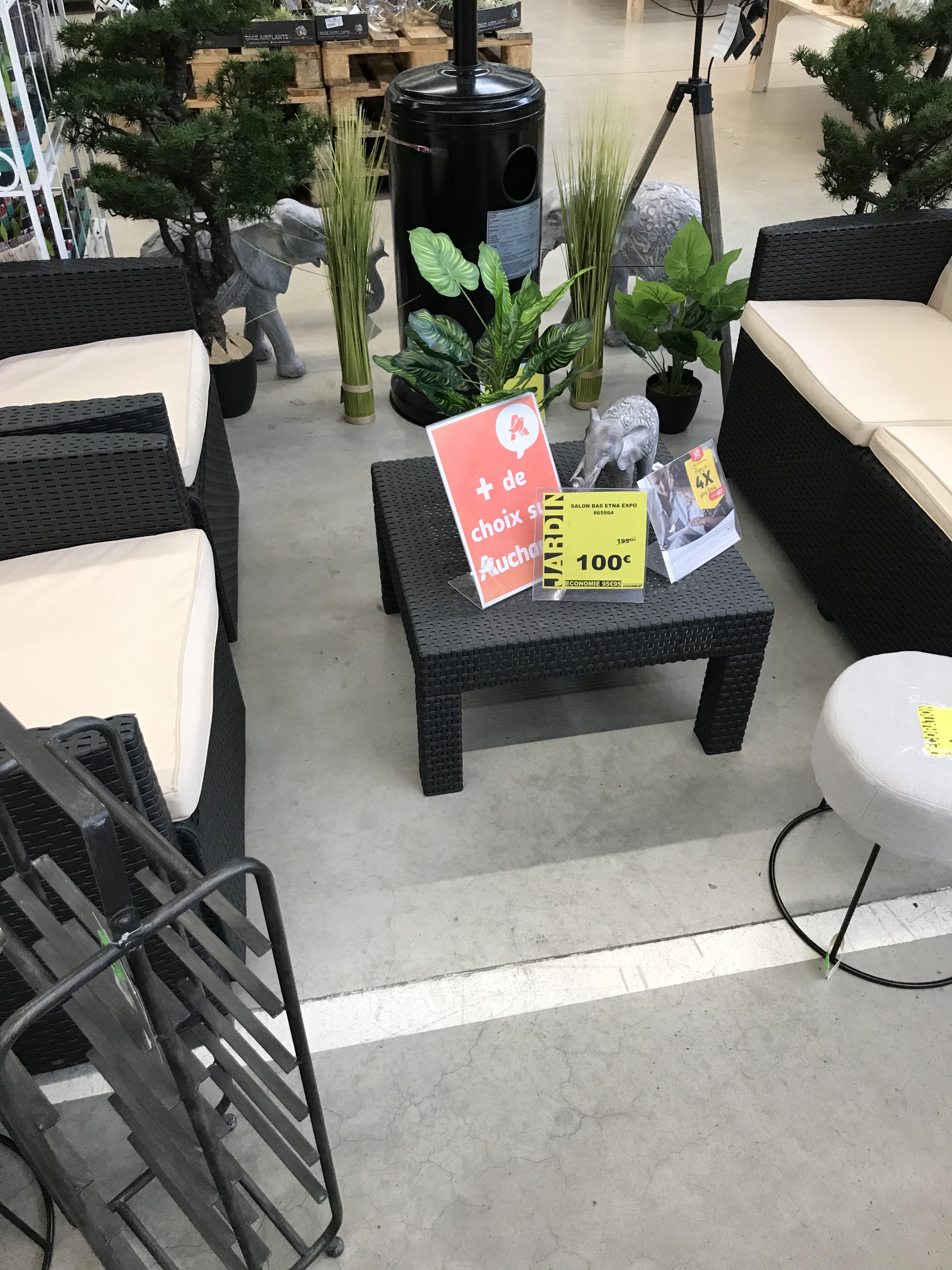 Salon de jardin Etna - Auchan Calais (62)