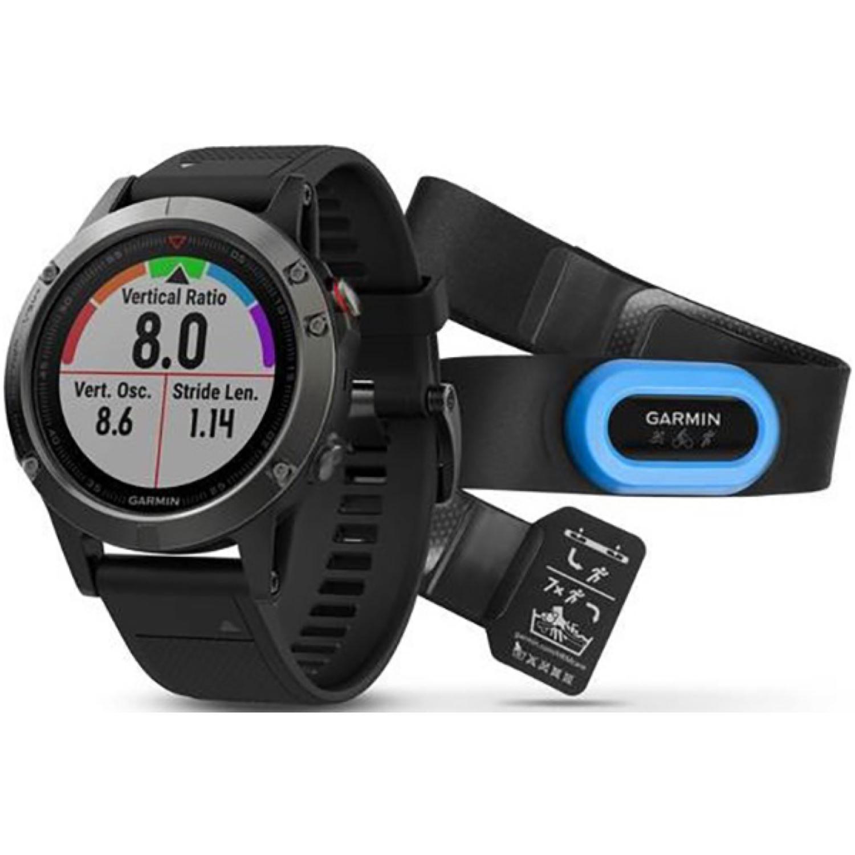 Montre GPS Garmin Fenix 5 - Performance Bundle (Ceinture HRM-Tri incluse)
