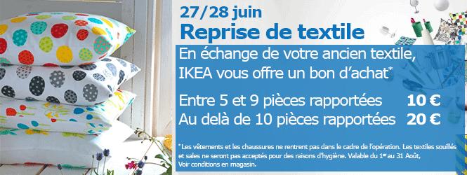 Recevez entre 10 et 20€ en bon d'achat contre vos anciens textiles