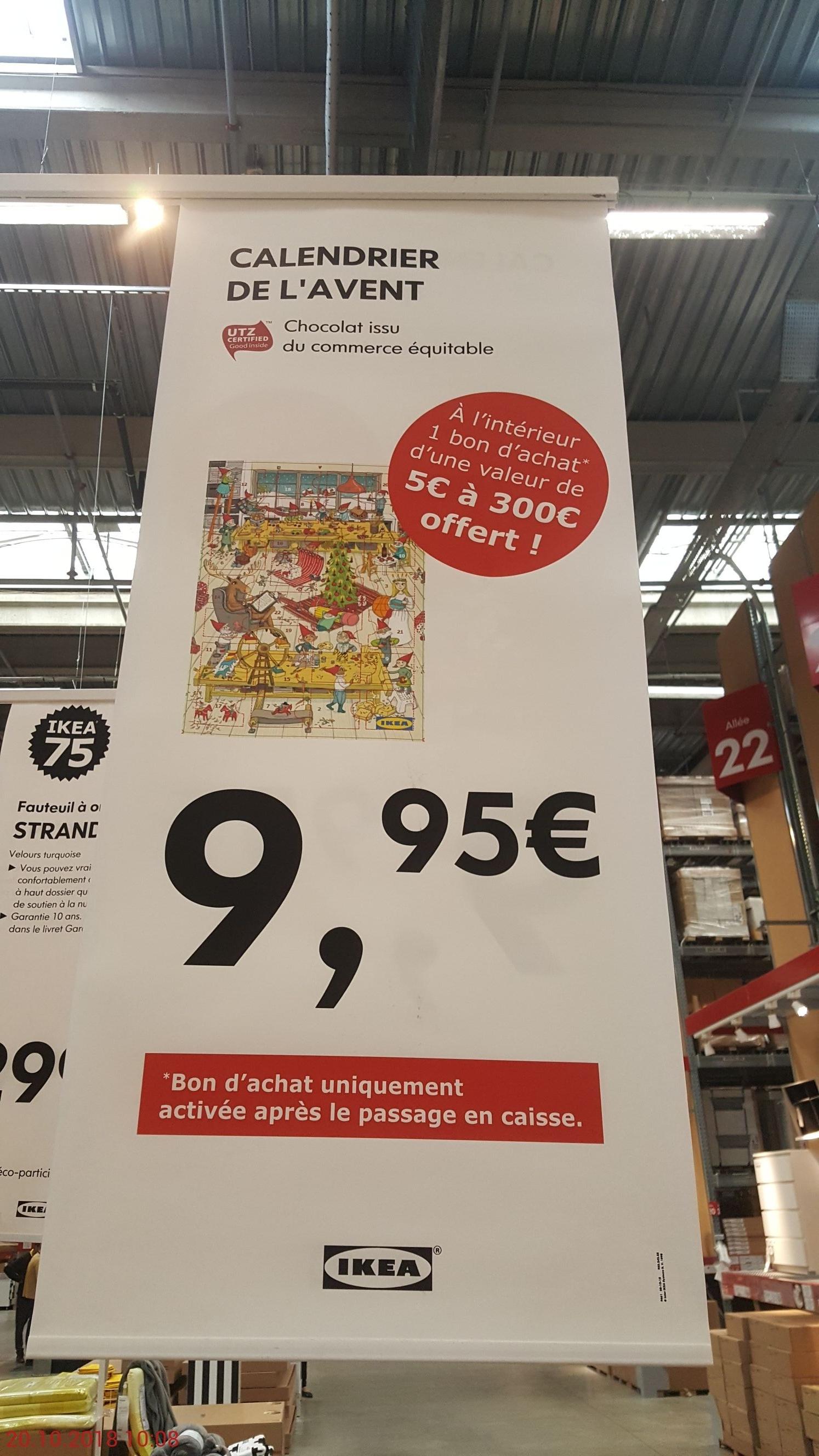 Calendrier de l'avent Ikea + bon d'achat d'un montant compris entre 5 et 300€