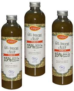 Lot de 3: Gel douche d'Alep Premium 15% - 3x250ml