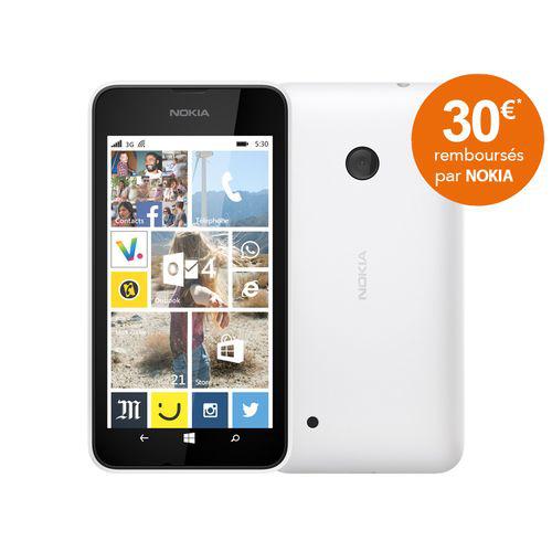 Smartphone Nokia Lumia 530 - Blanc (avec ODR 30€)