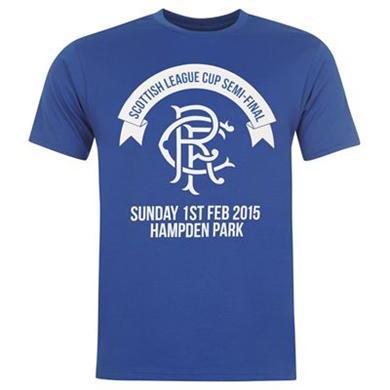 Jusqu'à -90% sur une sélection d'articles - Ex: T-shirt Rangers League Cup 2015