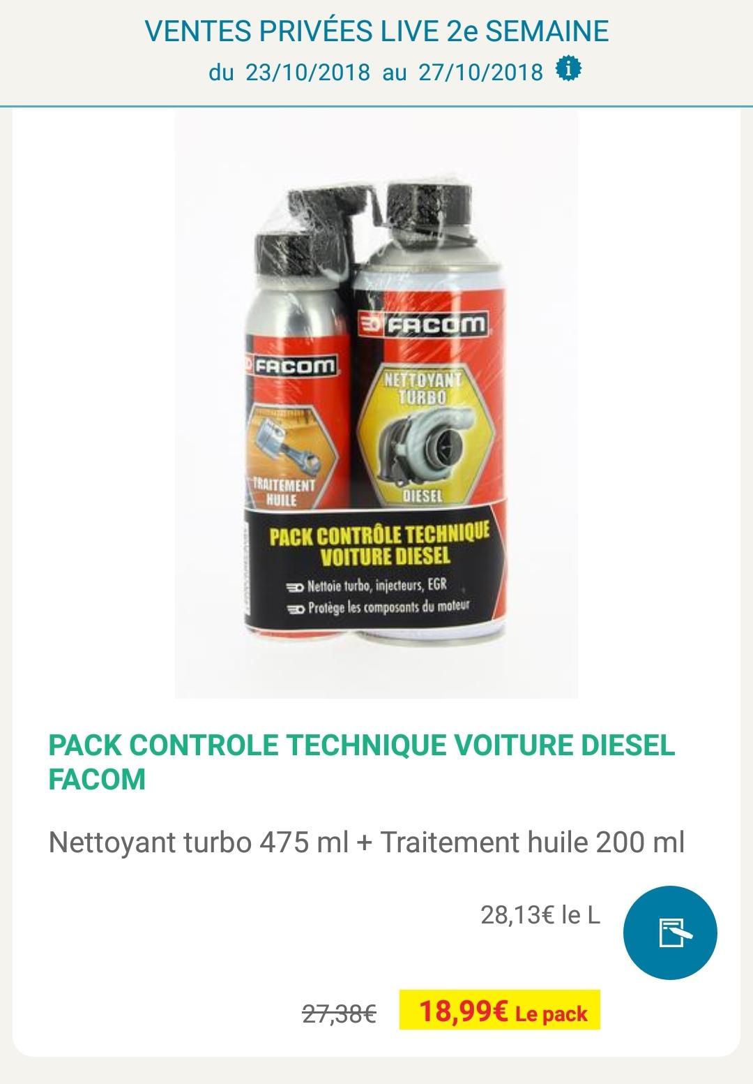 Sélection de produits en Promotion - Ex: Pack Contrôle Technique Voiture Diesel Facom