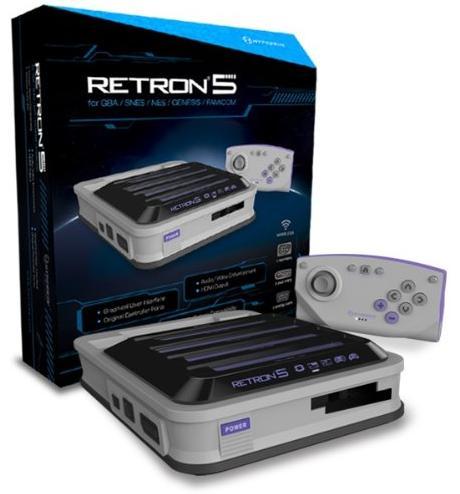 Console Retron 5 : GBA + SNES + NES + Genesis + Famicom - Grise