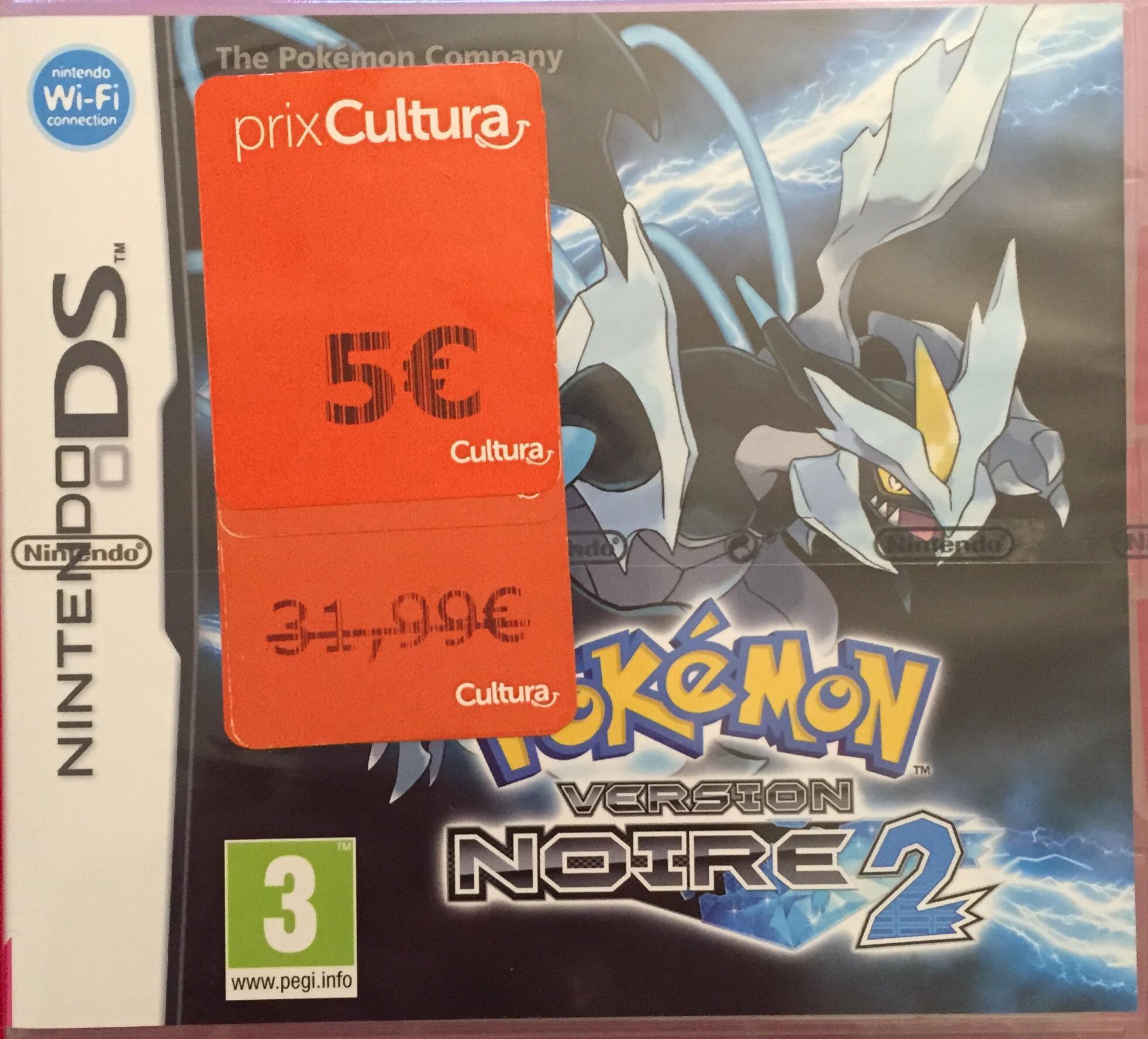Jeu Pokemon version Noire 2 sur Nintendo DS