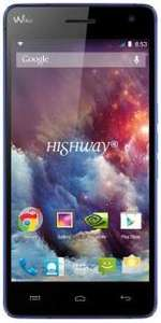 "Smartphone Wiko Highway 4G Noir, 5"" Full HD - 16 Go - Bleu électrique"