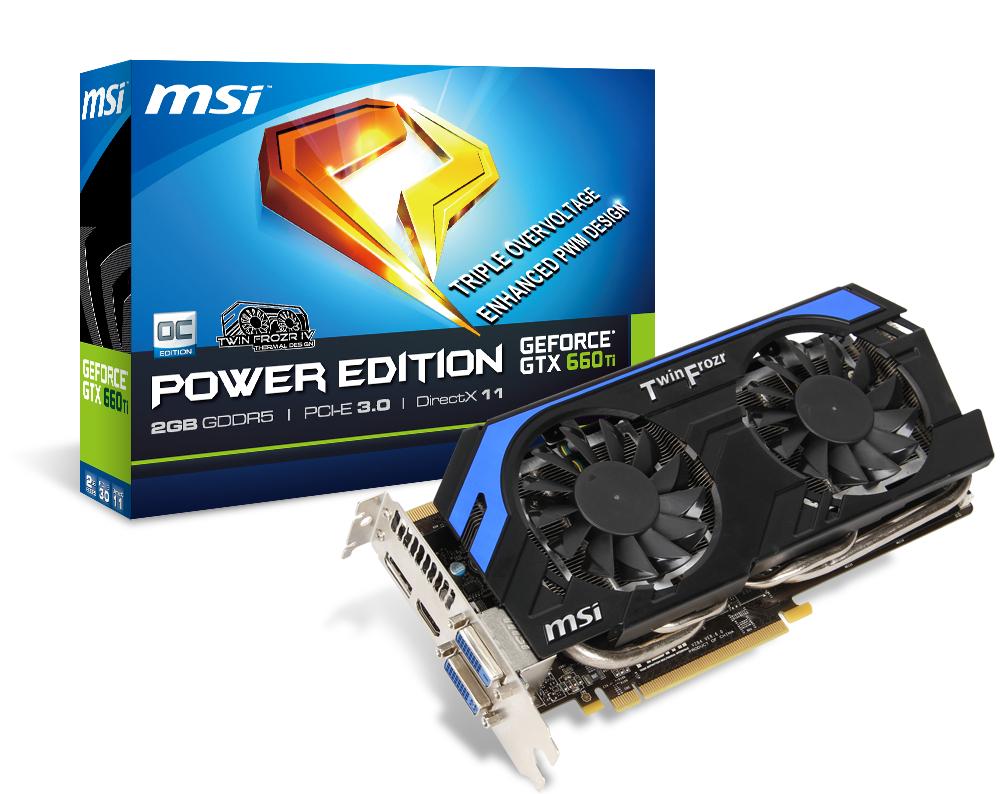 Carte Graphique MSI GTX 660TI Power Edition 2Go