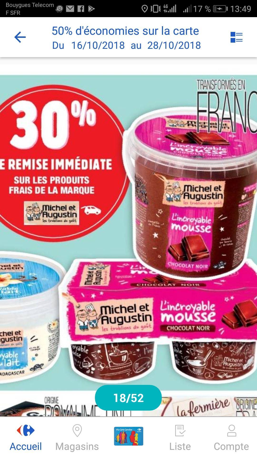 Mousse au chocolat 500ml Michel & Augustin