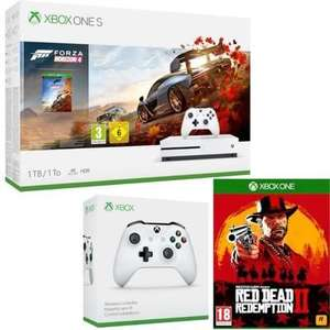 Console Microsoft Xbox One S (1 To) + Forza Horizon 4 + 2ème manette + Red Dead Redemption 2