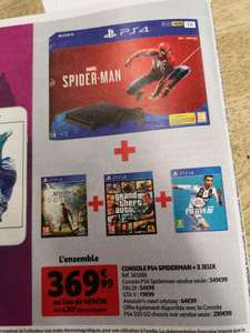 Pack console Sony PS4 (1 To) + Spider-Man + Assassin's Creed Odyssey + FIFA 19 + Grand Theft Auto V