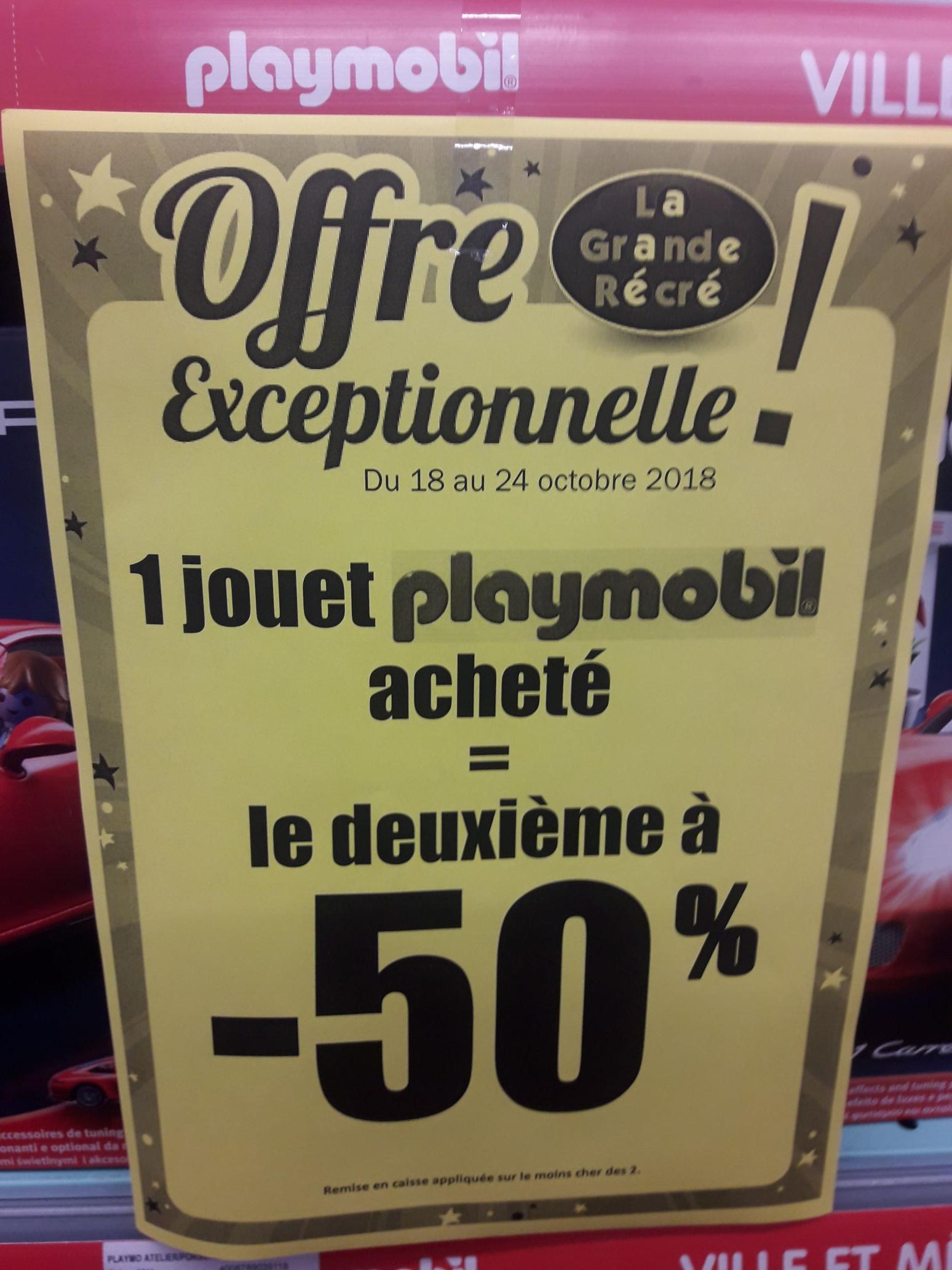 1 jouet Playmobil acheté = 50% de réduction sur le 2ème (le moins cher) - Clermont-l'Hérault (34)