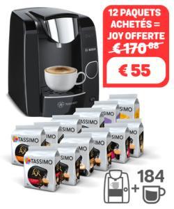 Assortiment de 12 Paquets de Capsules (Variétés Mixtes) + Machine à Café Joy offertes
