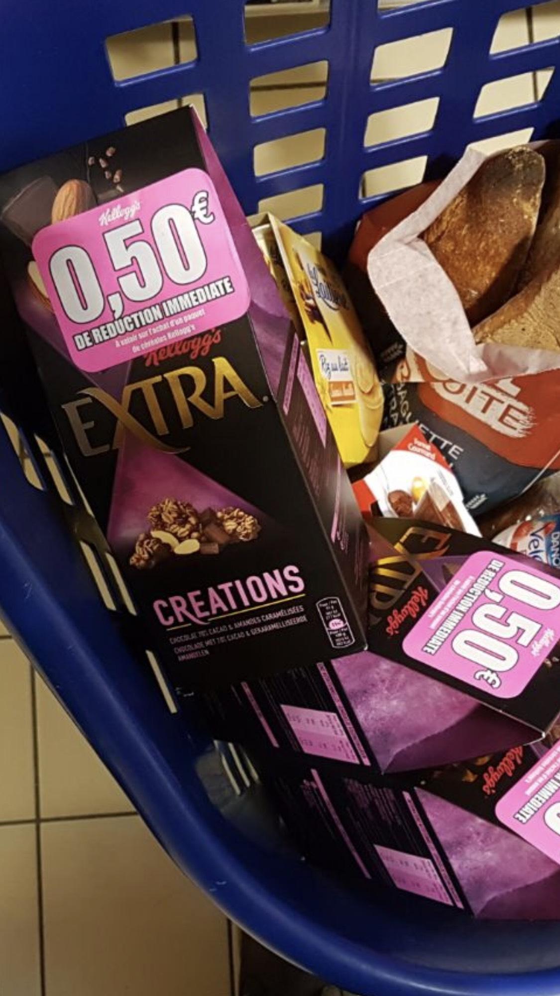 Paquet de Céréales Kellogg's Extra Cérations (Via BDR de 0.50€) - Gonesse (95)