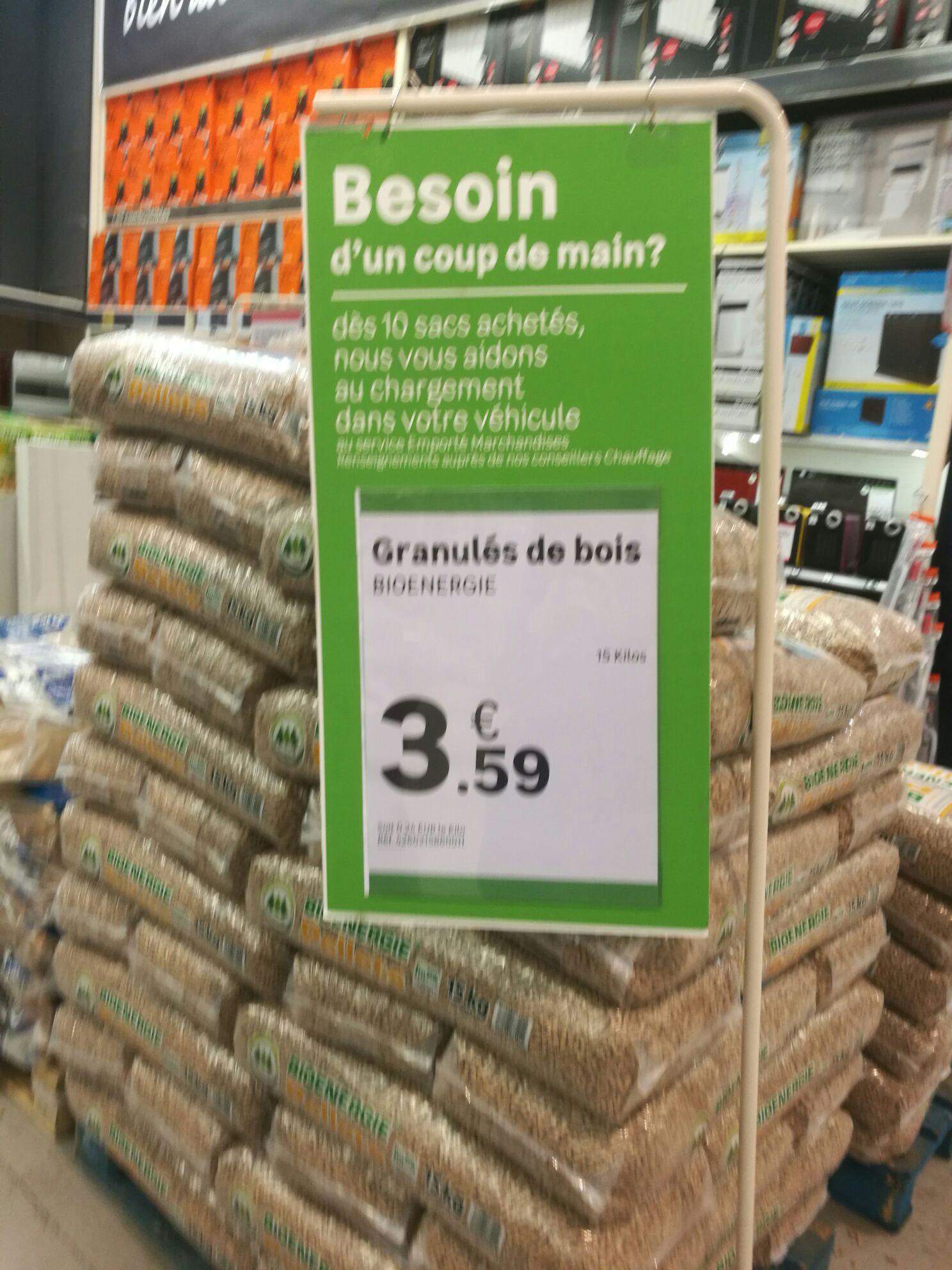 Sac de granulés de bois Pure Pellets - 15Kg (Moselle 57)