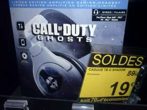 Casque micro Gaming call of duty Ghost PC / Xbox 360 / PS3