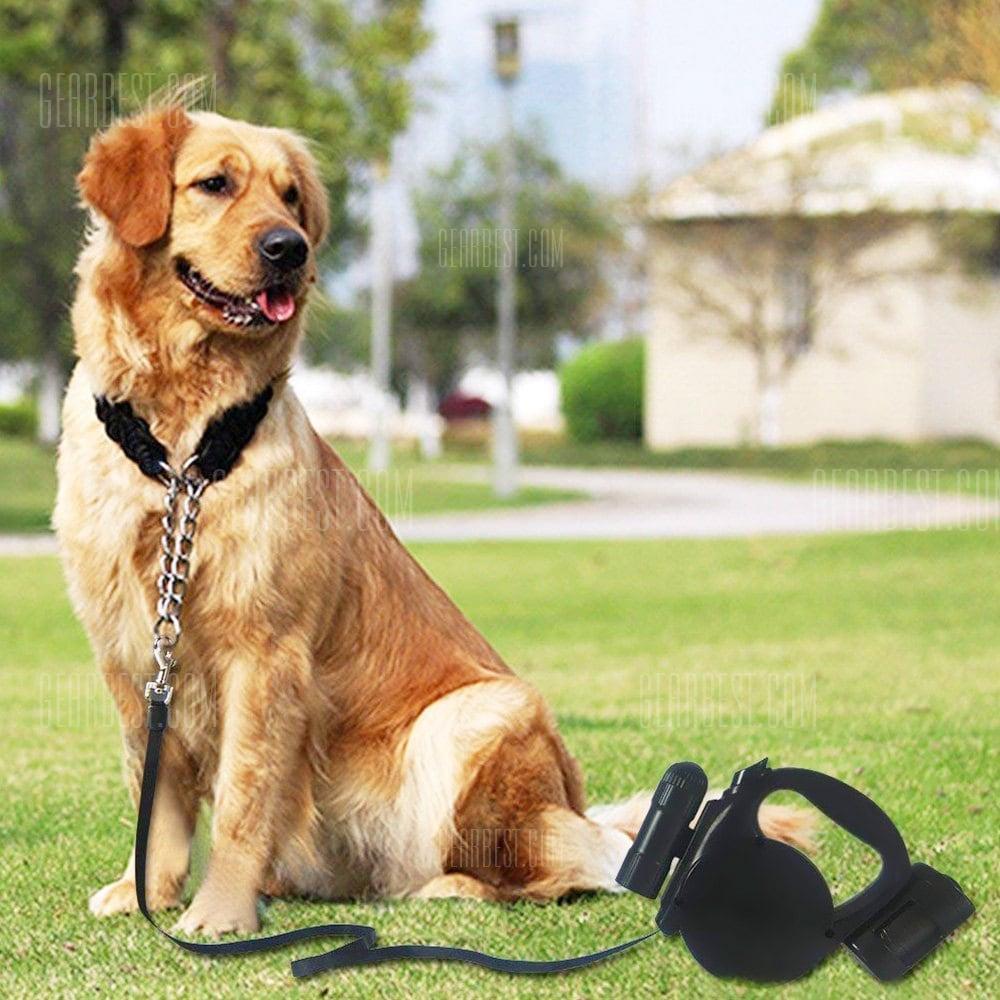 Laisse à enrouleur Gocomma pour chien - 5m avec LED et sac (vendeur tiers)