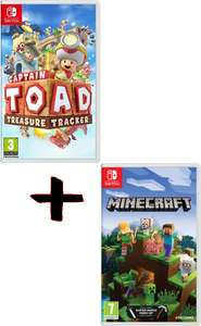 Captain Toad: Treasure Tracker + Minecraft sur Switch