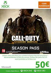 Carte Prépayée Xbox Live de 50€ + DLC Pour Call Of Duty Advanced Warfare Offerte