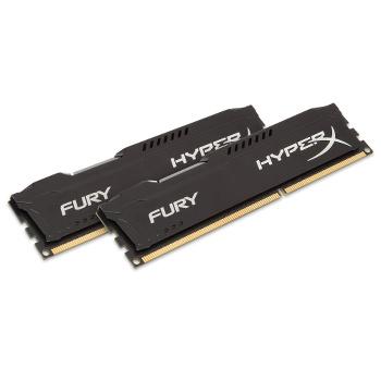 Mémoire RAM Kingston HyperX Fury Black 16 Go (2 x 8 Go) - DDR3 1866 MHz