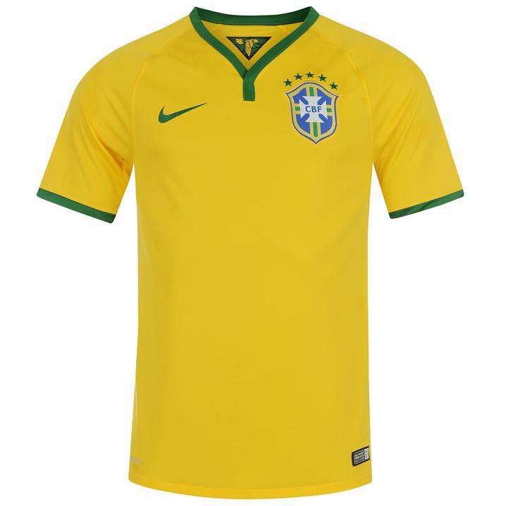 Maillot de football Domicile Brésil Nike 2014 - Taille XL