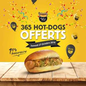 1 hot dog gratuit aux 365 premiers clients chez Made in Street Lille (59)