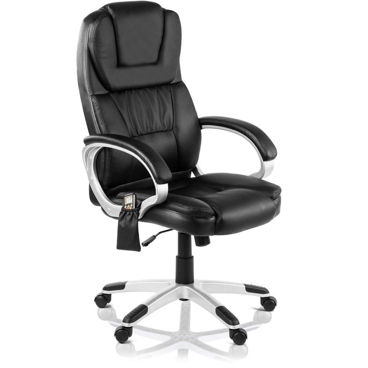 Chaise de Bureau McHaus avec Massage et Chauffage - Noir