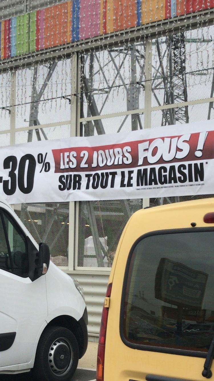 30% de réduction sur tout le magasin - foirefouille La Rochelle (17)