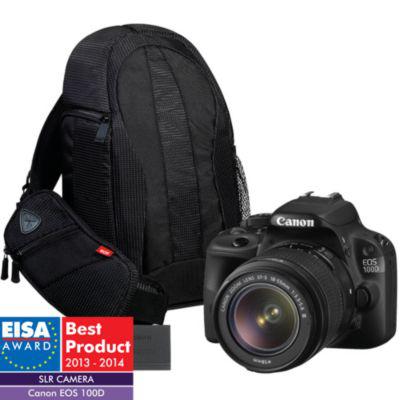Appareil photo Reflex Canon EOS 100D + 18-55mm + Sac à dos 300EG + 2ème batterie