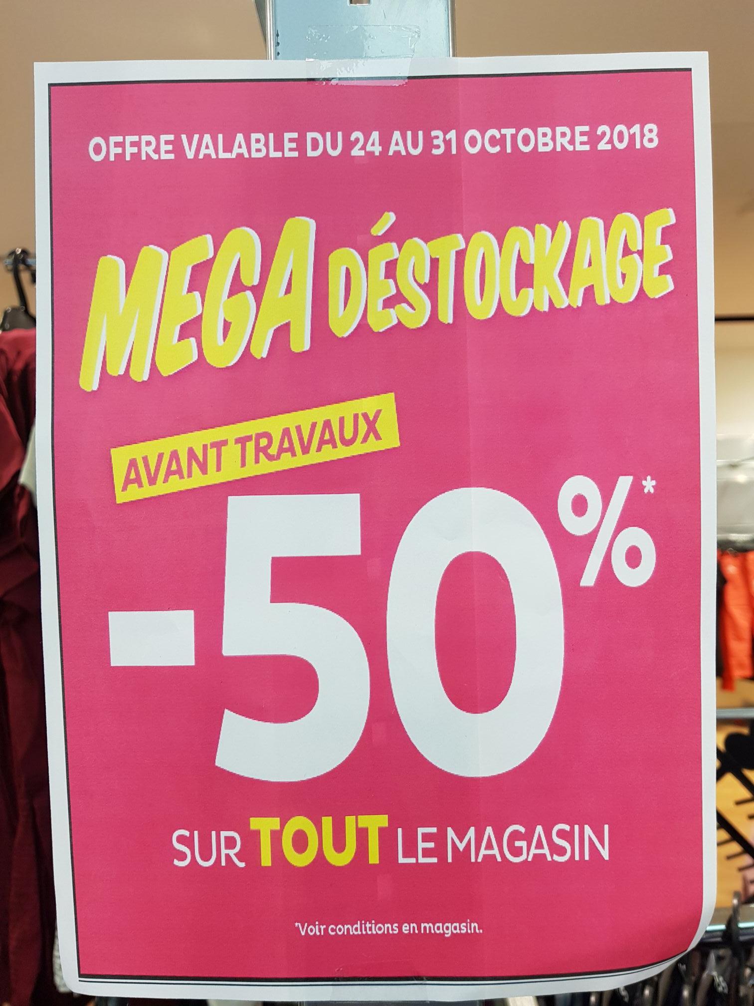 50% de réduction sur tout le Magasin - Hellemmes (59)