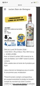 Rhum blanc Old Nick 70cl (via 4,98€ en ticket Leclerc) - Bain-de-Bretagne (35)