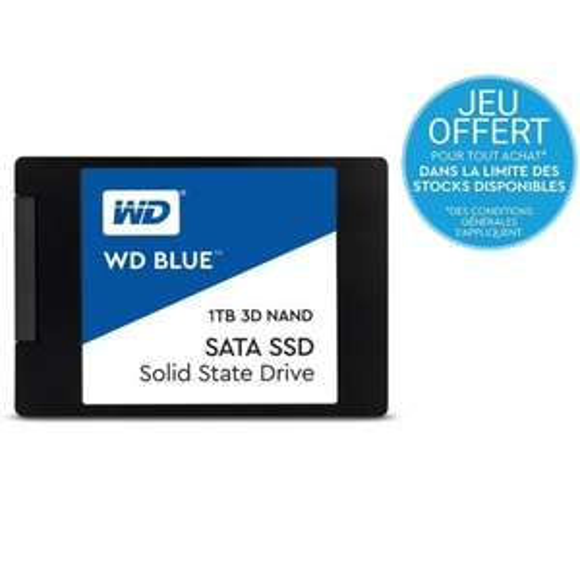 """SSD Interne 2,5"""" Western Digital Blue - 1 To  + Assassins Creed Odyssey sur PC (Dématérialisé)"""