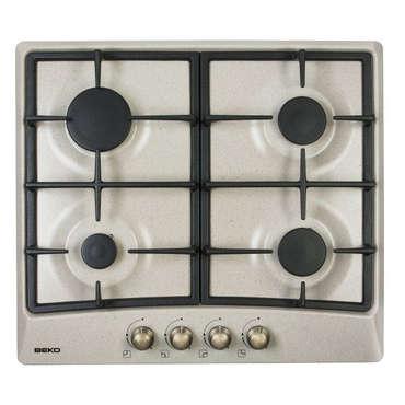 Table de cuisson gaz Beko 64220 - 4 Foyers - Grille Fonte