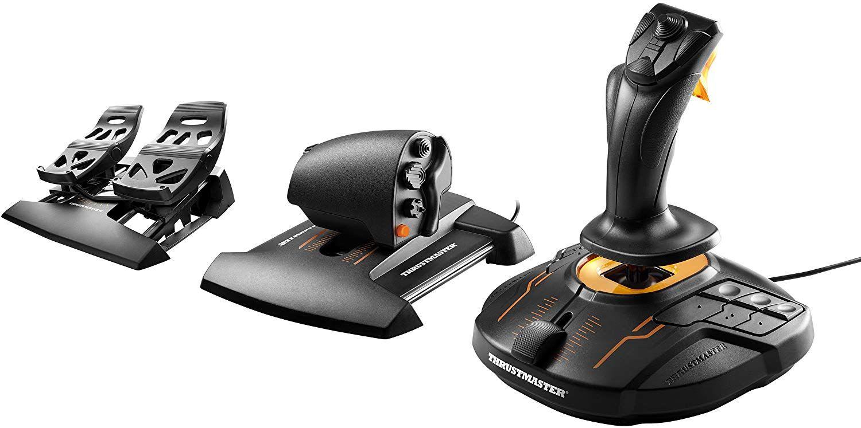 Pack Joystick ThrustMaster T.16000M FCS + Manette des Gaz et Palonnier sur PC