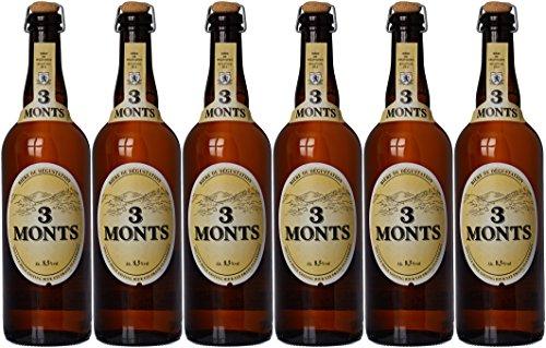 Lot de 6 bouteilles de bière blonde 3 Monts - 6x75 cl