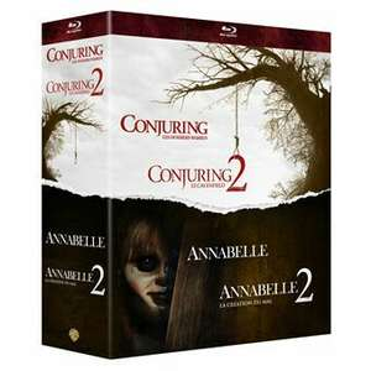 Coffret Blu-Ray Warren Collection de 4 films d'horreur - Annabelle et Conjuring 1 & 2