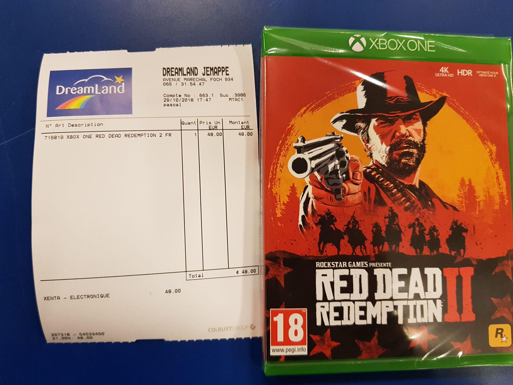 Red Dead Redemption 2 sur Xbox One (Jemappes - Frontaliers Belgique)