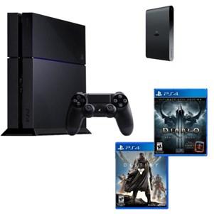 Console Sony PS4 + Diablo 3 Ultimate Evil Edition + Destiny + PlayStation TV & 3 Jeux dématérialisés
