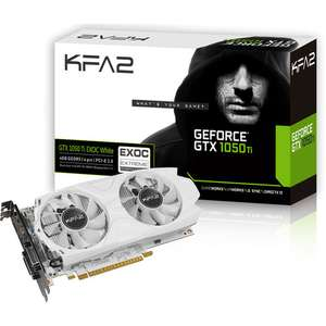Carte graphique KFA2 GeForce GTX 1050 Ti EXOC White, 4 Go, PCI-Express overclockée