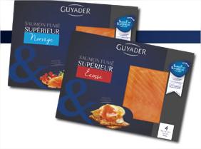 Saumon fumé supérieur Guyader 4 tranches - 140g  gratuit (avec ODR 100%)