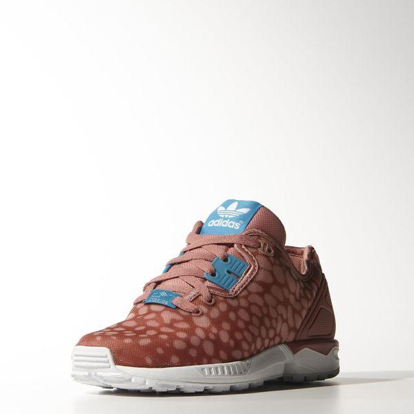 Basket femme Adidas ZX Flux Decon - Couleur Ash Pink / Bold Aqua / Ftwr White