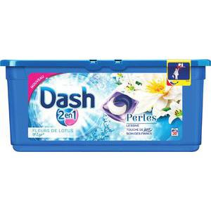 30 Capsules de lessive perles Dash 2 en 1 - Fleurs de lotus ou Pivoine (via 8,05€ fidélité + BDR)