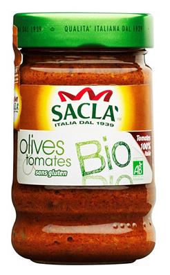 Sélection d'articles Sacla en promotion - Ex:  Pack de 6 pots de sauces olives et tomates Bio - 6 x 190 g