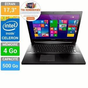 "PC portable 17.3"" Lenovo Ideapad G70-70 Intel Celeron Stockage 500Go Windows 8.1 (via ODR de 53.80€)"