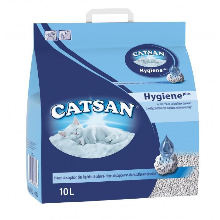Litière pour chat Catsan Hygiène Plus - 3 x 10L