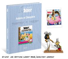 Asterix & cléopatre + 2 figurines acier + 48 pages d'Archives (autre voir description)