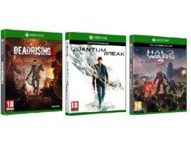 Pack de 3 Jeux Xbox One : Dead Rising 4 + Quantum Break + Halo Wars 2
