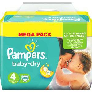 Couches Mega Pack Pampers (avec 15.45€ sur la carte)