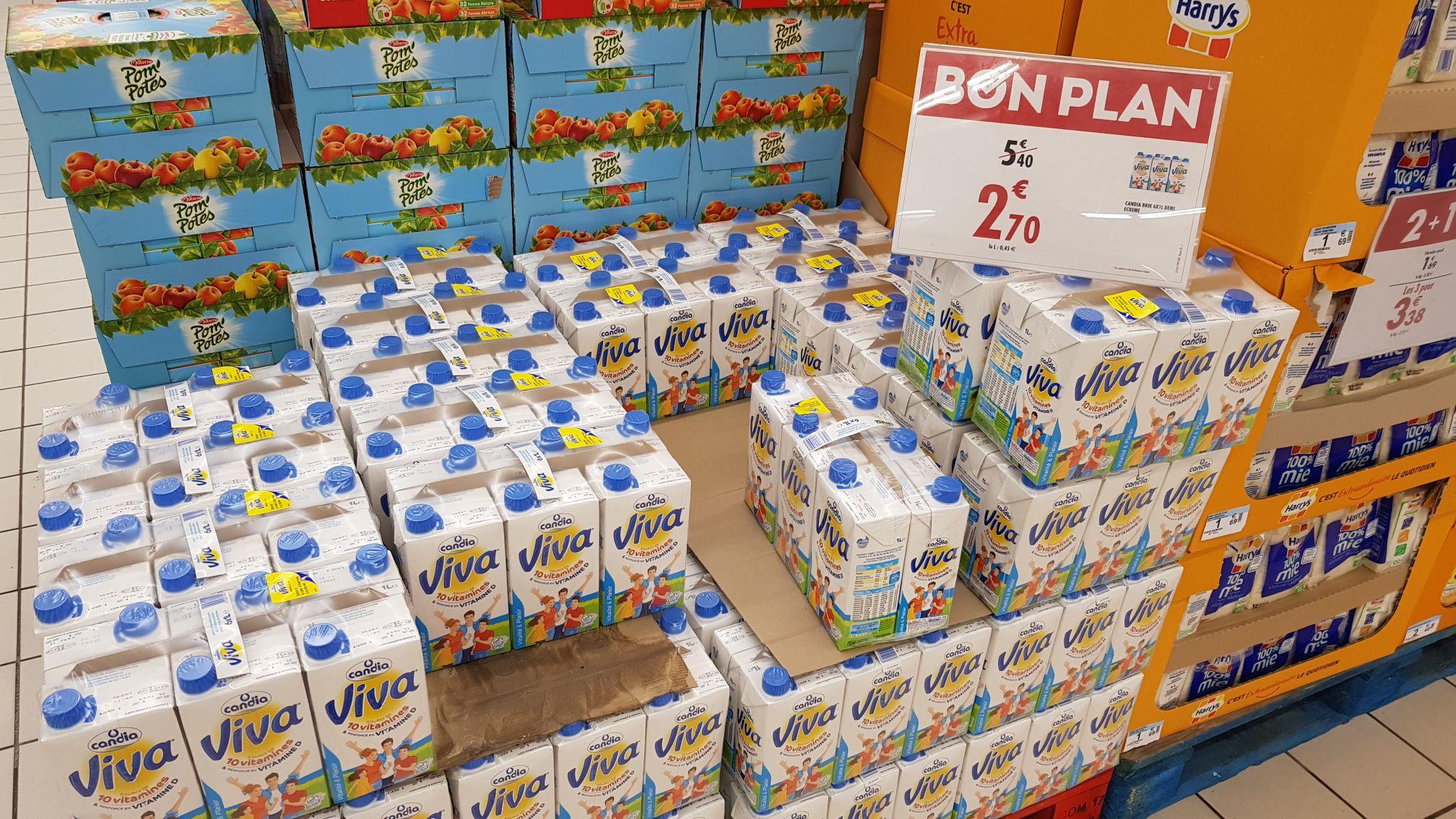 Pack de lait Viva Candia 6x1L - Le Crès (34)